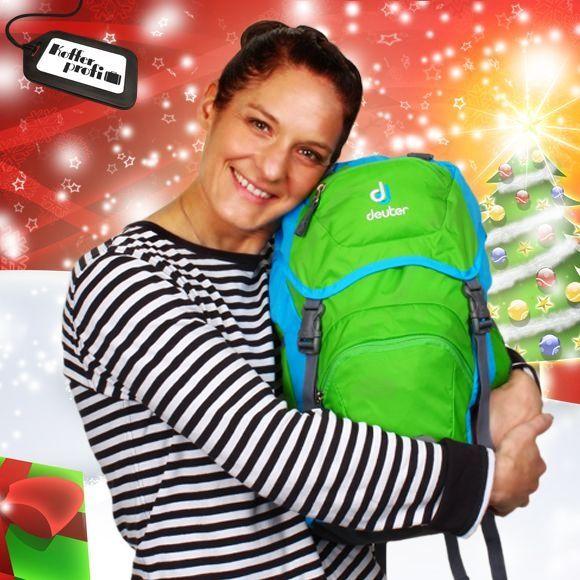 Ein echtes Dreamteam: Nathalies Weihnachtsgeschenk-Tipp ist der deuter Family Kinderrucksack. Lässt kleine Abenteurer-Augen glänzen