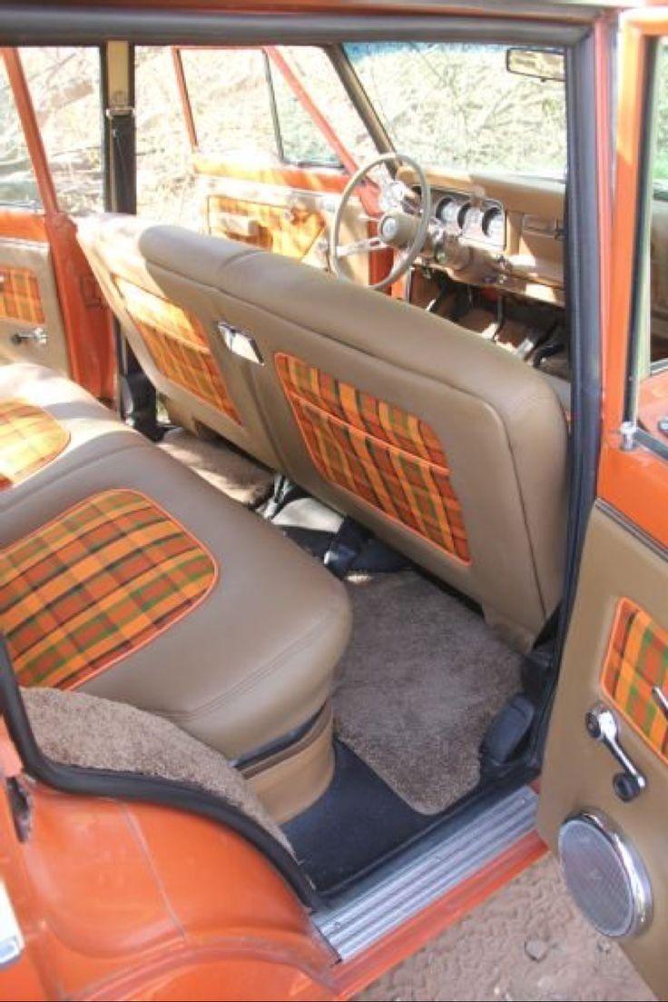 Orange Plaid...wagoneer   Jeep wagoneer, Jeep interiors ...