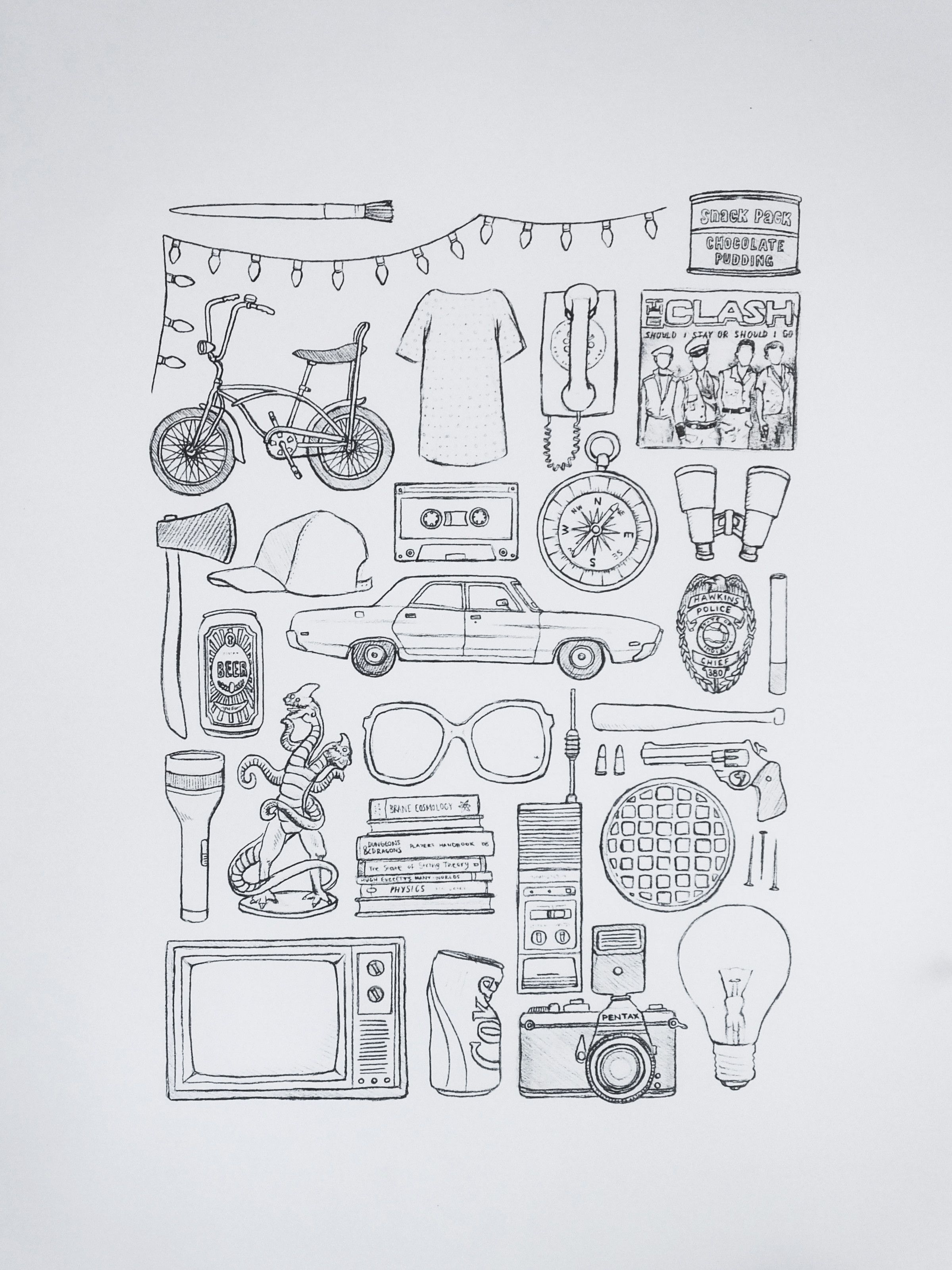 Stranger Things Print Available At Art Design Poster Movie Series Merch Art Print A3 A4 Car Imagenes Para Dibujar Faciles Dibujos Fáciles Imagenes De Dibujos