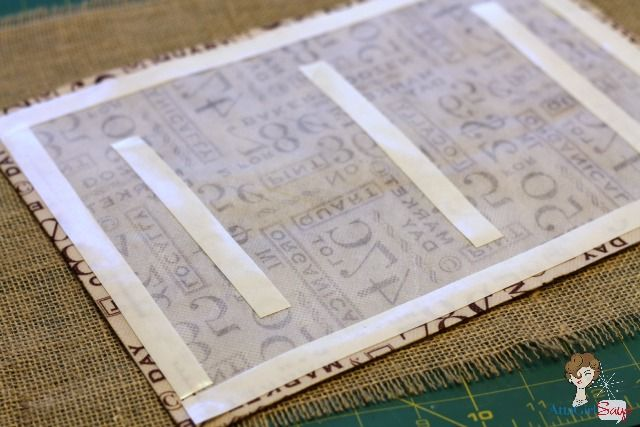 No-Sew Burlap & Utility Fabric Placemat and Napkin Ring - Atta Girl Says