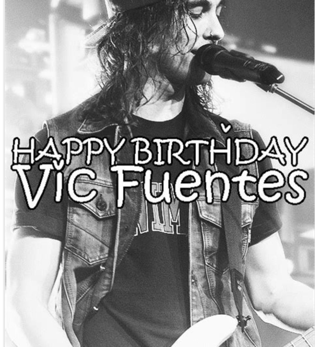 I wanted to say a special Happy Birthday to @piercethevic I got to see Vic in concert last year and it meant so much to me. At the point of the concert I was in a really really dark place and I sort of fell into Pierce The Veil's music. I'm so happy that I got into their music, so many times listening to Vic's voice and lyrics have saved my life and helped me through so much. Sadly none of my pictures from that concert turned out and I didn't get to meet them. I hope one day I'll be able to meet #pictureplacemeant