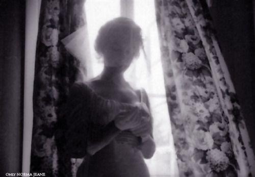 Marilyn Monroe before her wedding with Arthur Miller, 1956.