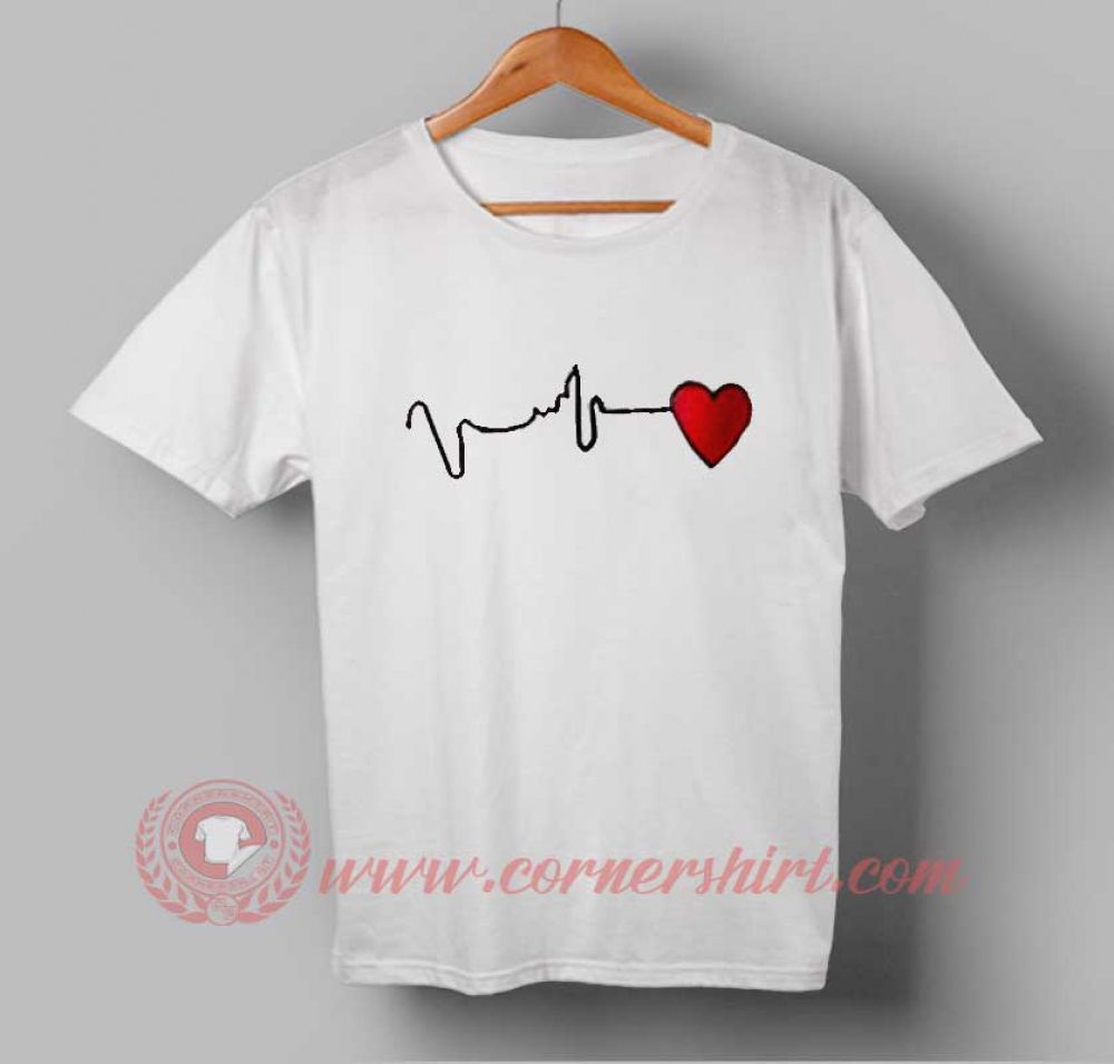 Heart Beat Custom Design T Shirts