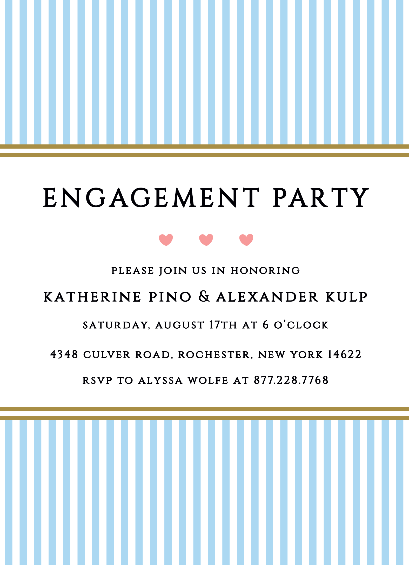 You pick the color! Engagement Party Invitation   Customizable with ...