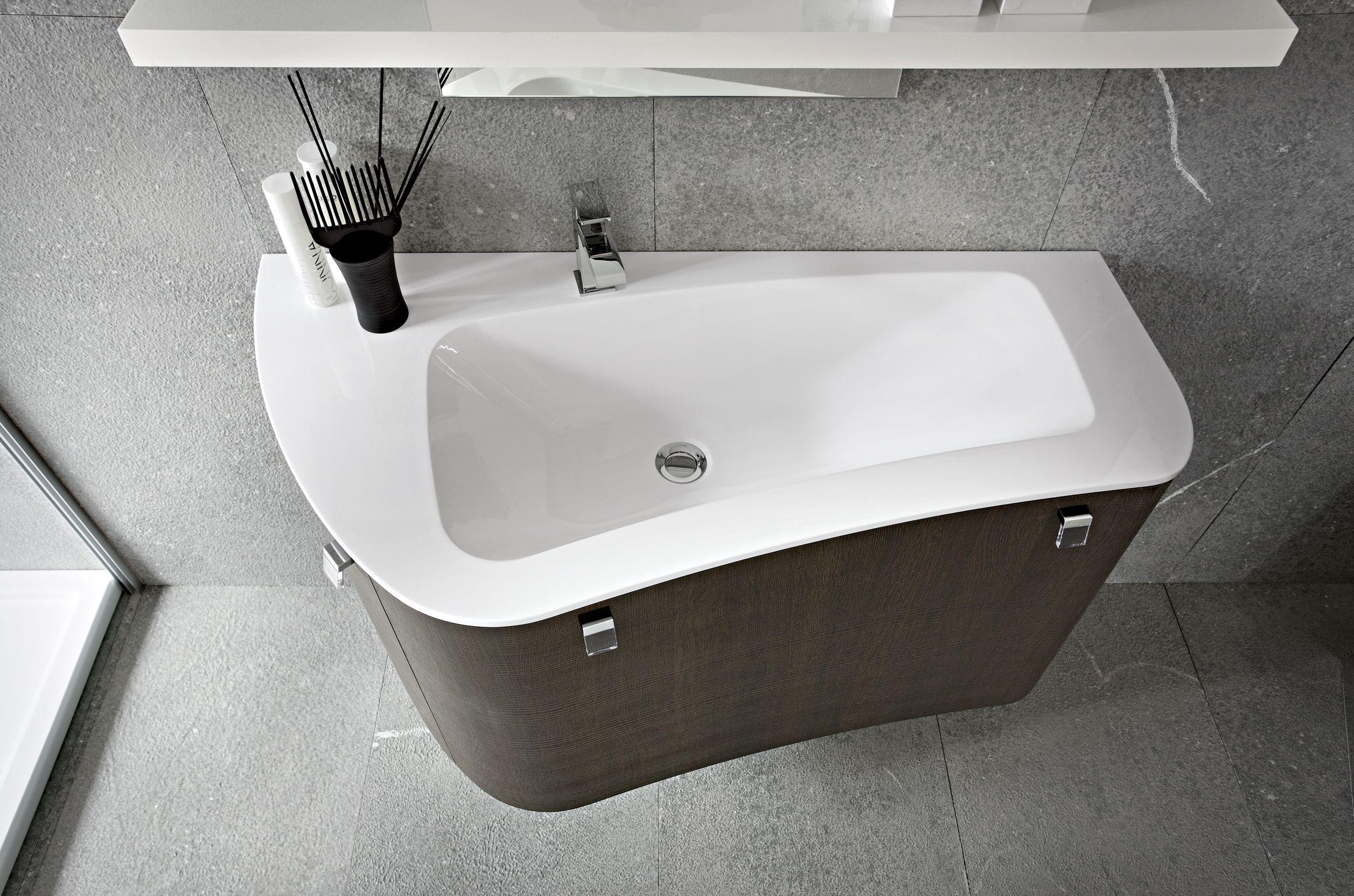 Mobile Bagno Lavandino Incasso lavabo da appoggio per bagno in ceramica thin 45 by novello
