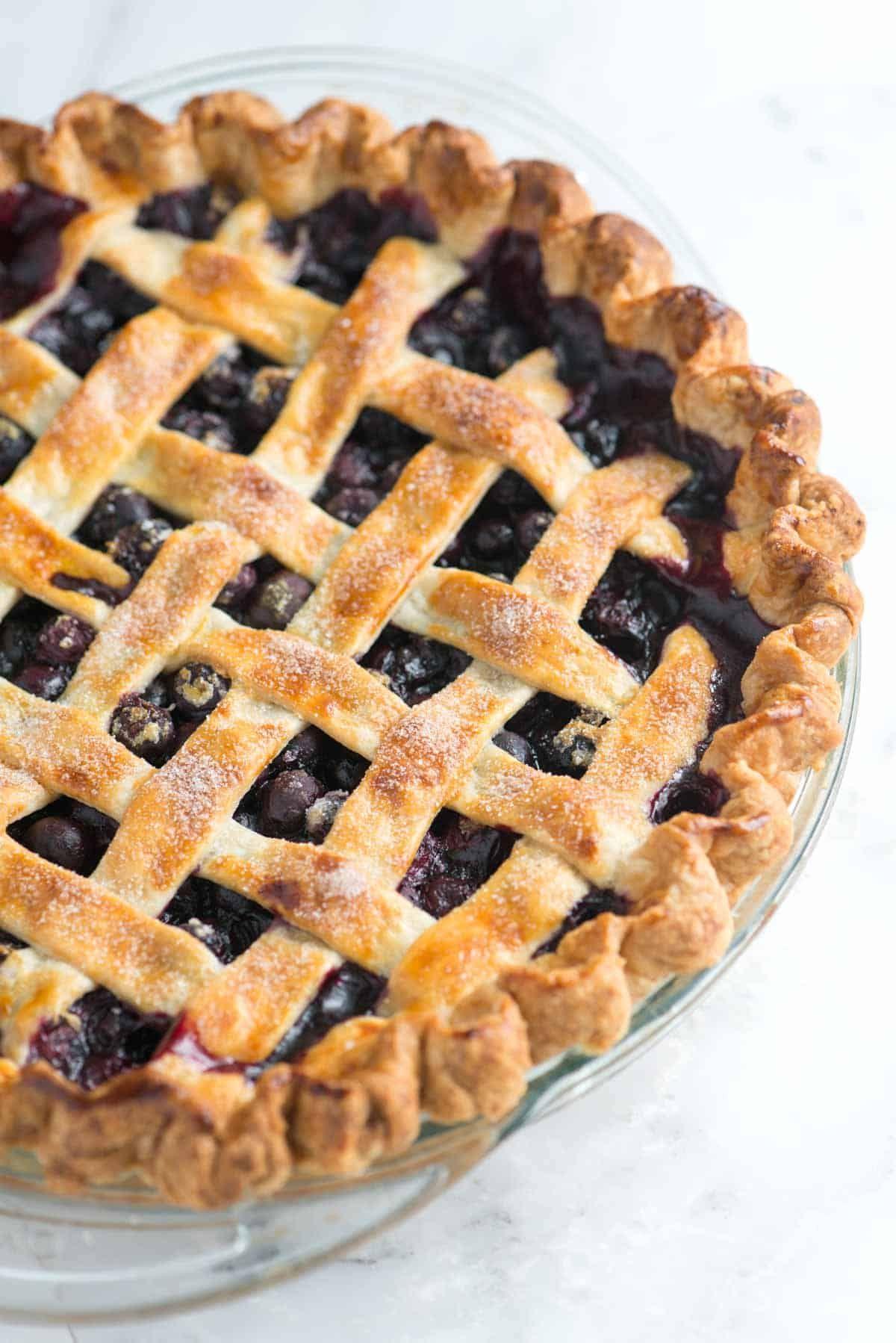 Easy homemade blueberry pie recipe in 2020 easy
