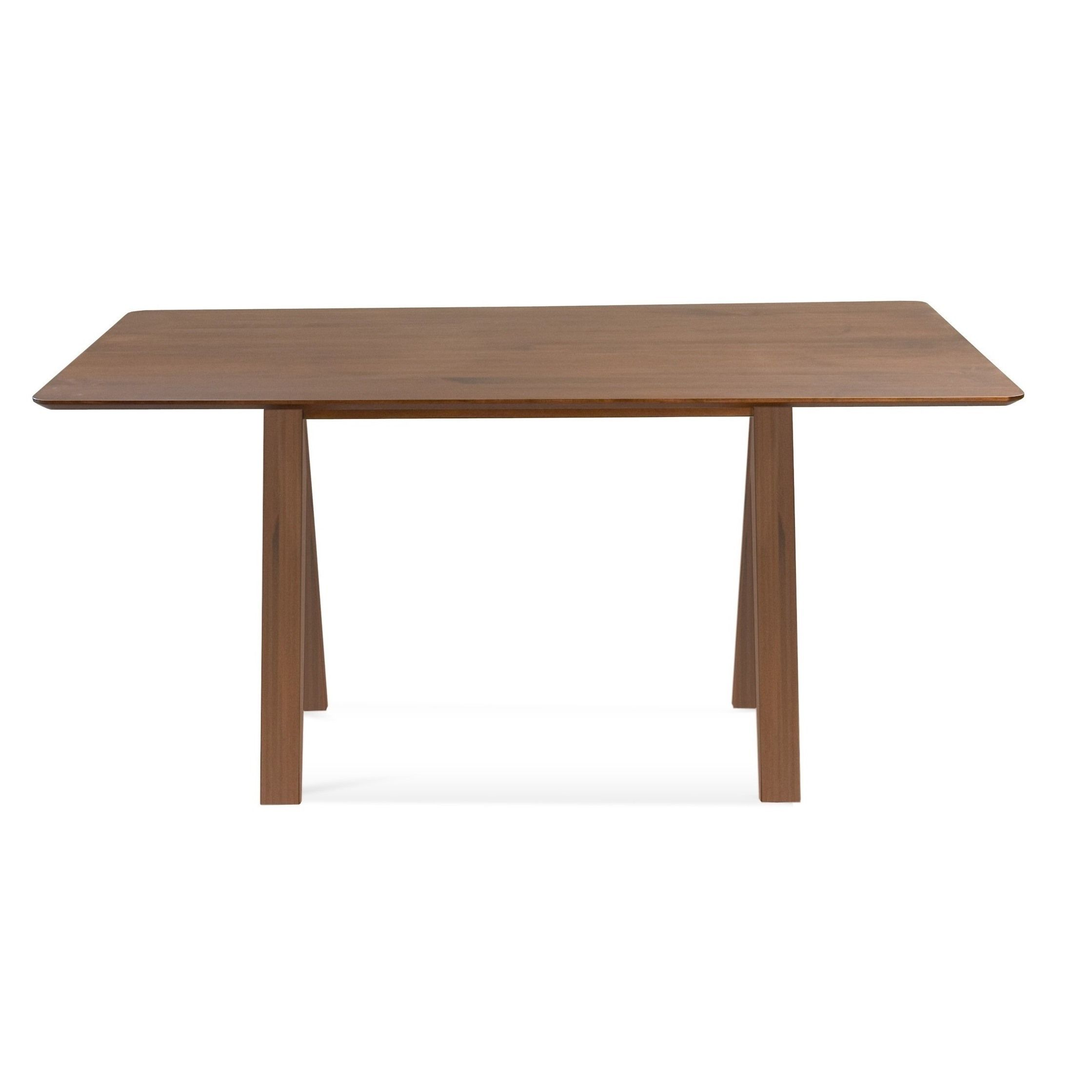 Saloom Soma 42 X 72 Rectangular Maple Strata Texture Top Dining Table In Chestnut Brown Finish