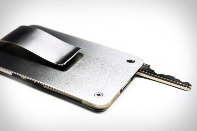 Stainless Steel Cash Clip Card Holder Metal Pocket Key Ring Wallet MONEY CLIPS