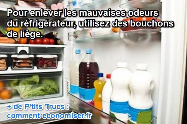 comment enlever les mauvaises odeurs dans un frigo avec des bouchons en lige - Comment Enlever Les Mauvaises Odeurs Dans La Maison