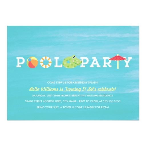 Deals Fun Birthday Pool Party Invitation we are given they also - best of invitation party card
