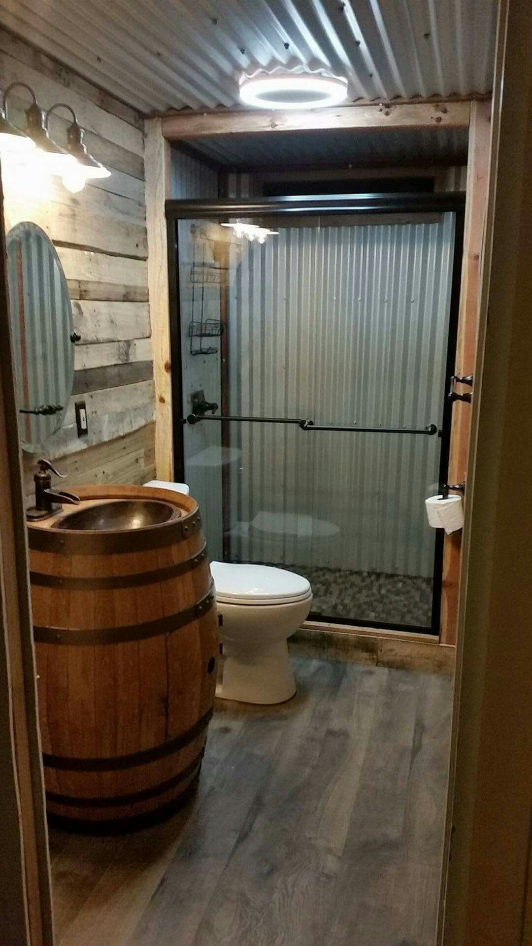 Barn tin bathroom country homes pinterest barn tin Bath barn