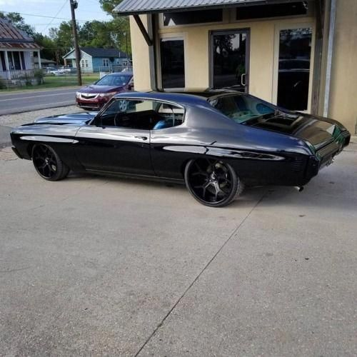 Blacked Out Peace Kickstand Hot Rods Cars Chevy Muscle