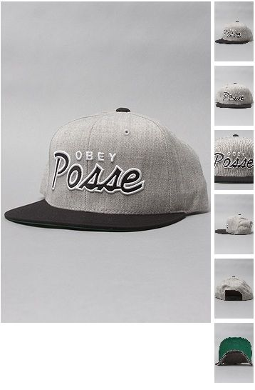 b8f0d7429b5 Brand  Obey. Title  The Obey Posse Snapback Cap in Heather Grey  amp
