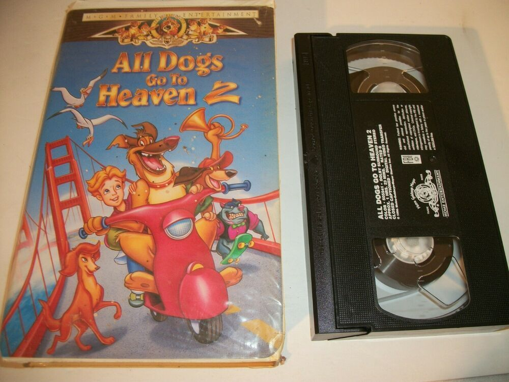 All Dogs Go To Heaven 2 Vhs 1996 Clam Shell Family