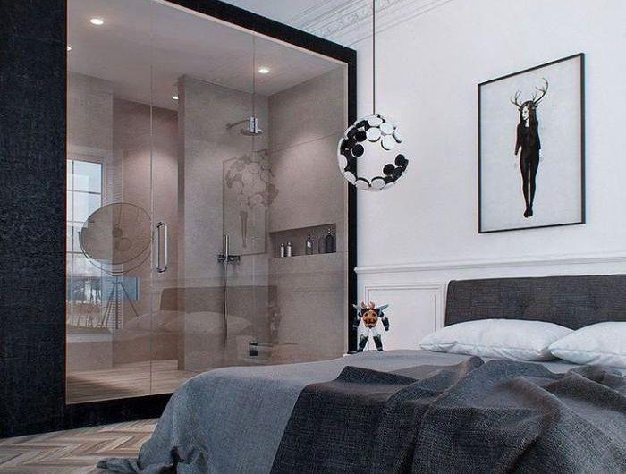 Quelle décoration pour la chambre à coucher moderne Semi transparent