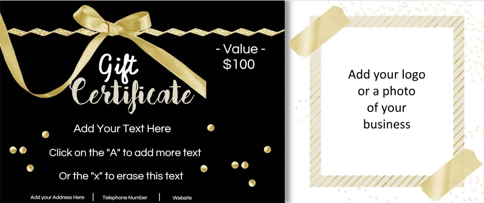 Image Result For Free Customizable Gift Certificate Template Photography Gift Certificate Template Photography Gift Certificate Gift Certificate Template