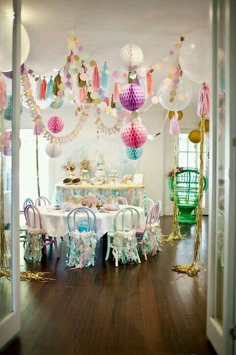 Party decorations | Party Ideas in 2019 | Party, Unicorn