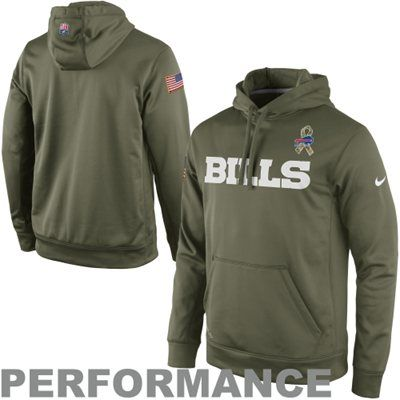 big sale ff89d 8b3ca Nike Buffalo Bills Salute to Service KO Pullover Performance ...