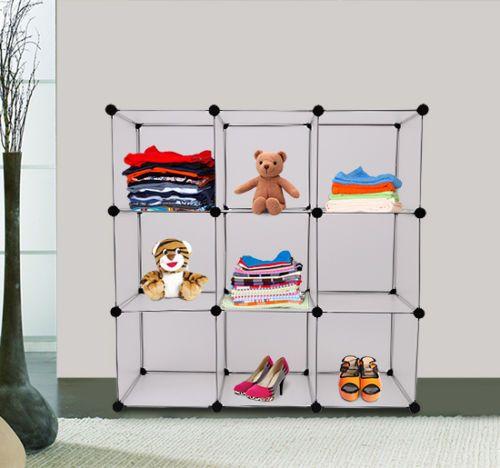 Details zu Homcom DIY Kleiderschrank Steckregal Garderobenschrank ...