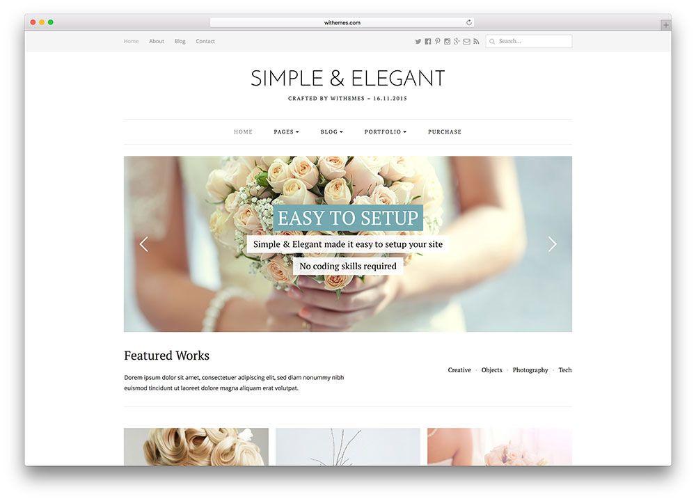 simple elegant static website wordpress theme clean wordpress