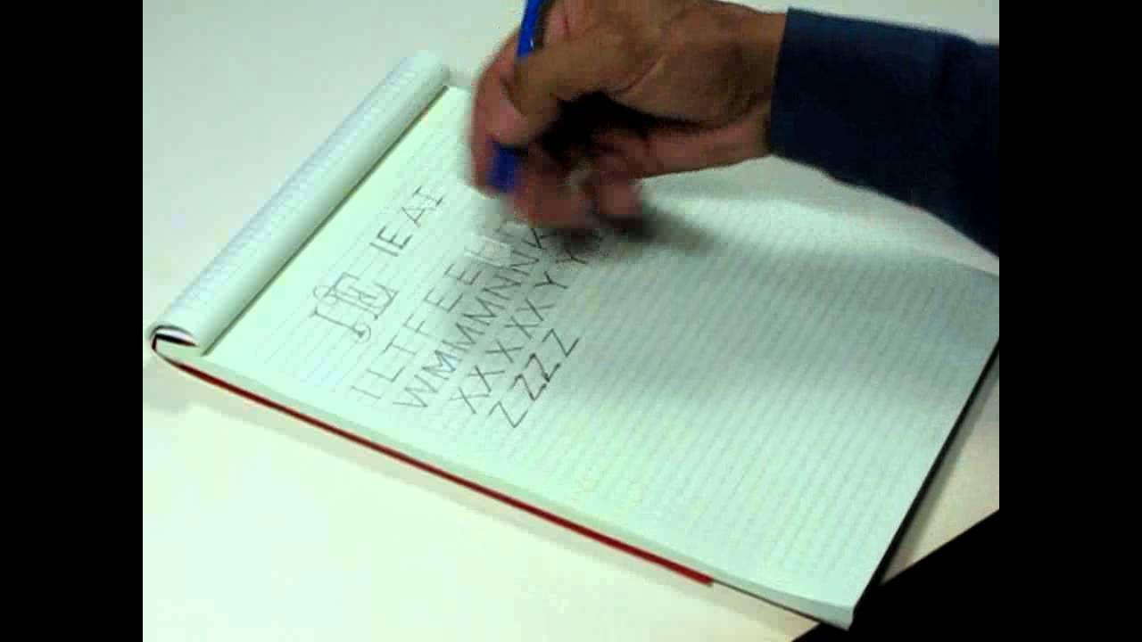 Trazo De Letras Normalizadas Para Dibujo Tecnico Trazos De Letras Tecnicas De Dibujo Letras