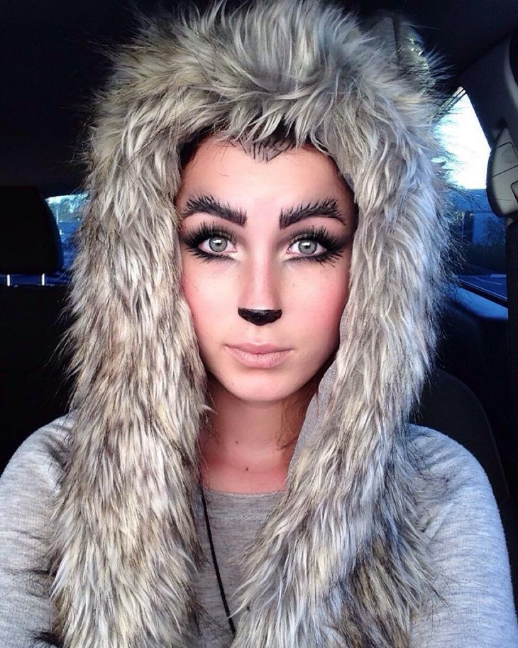 wolf makeup and hairdo - Wolf Makeup Halloween