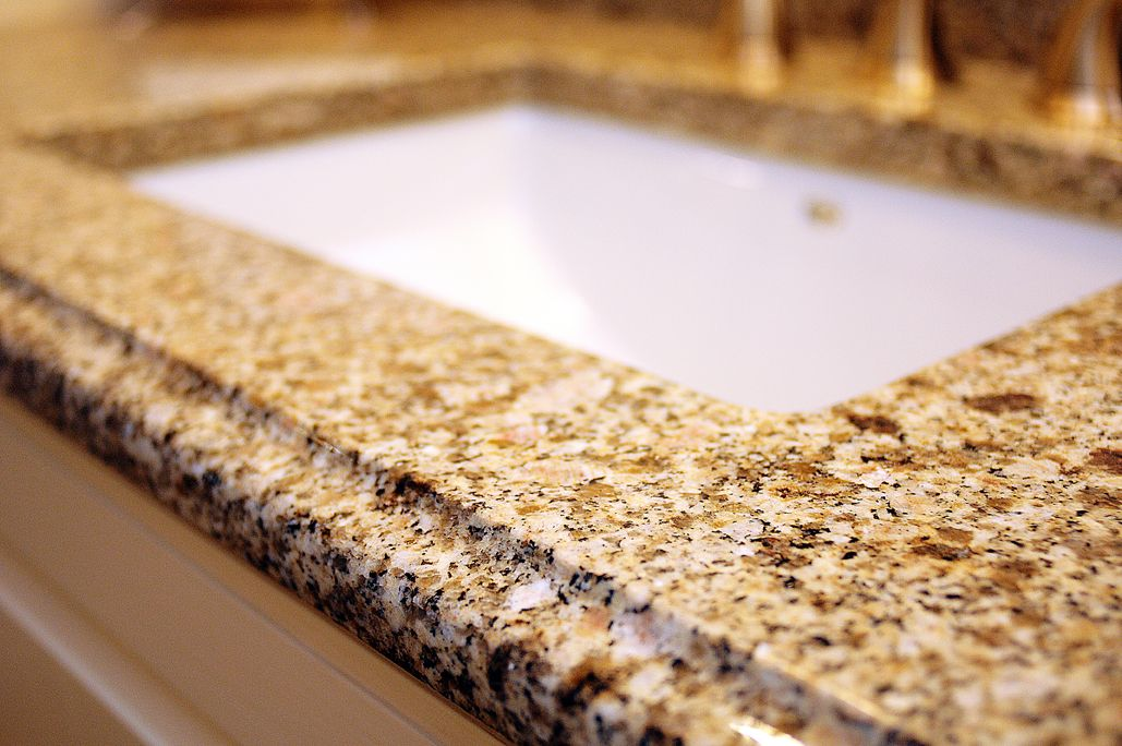 Juparana Cathedral Granite With Ogee Edge Light Amp Traditional Jack Amp Jill Bath Ogee Edge