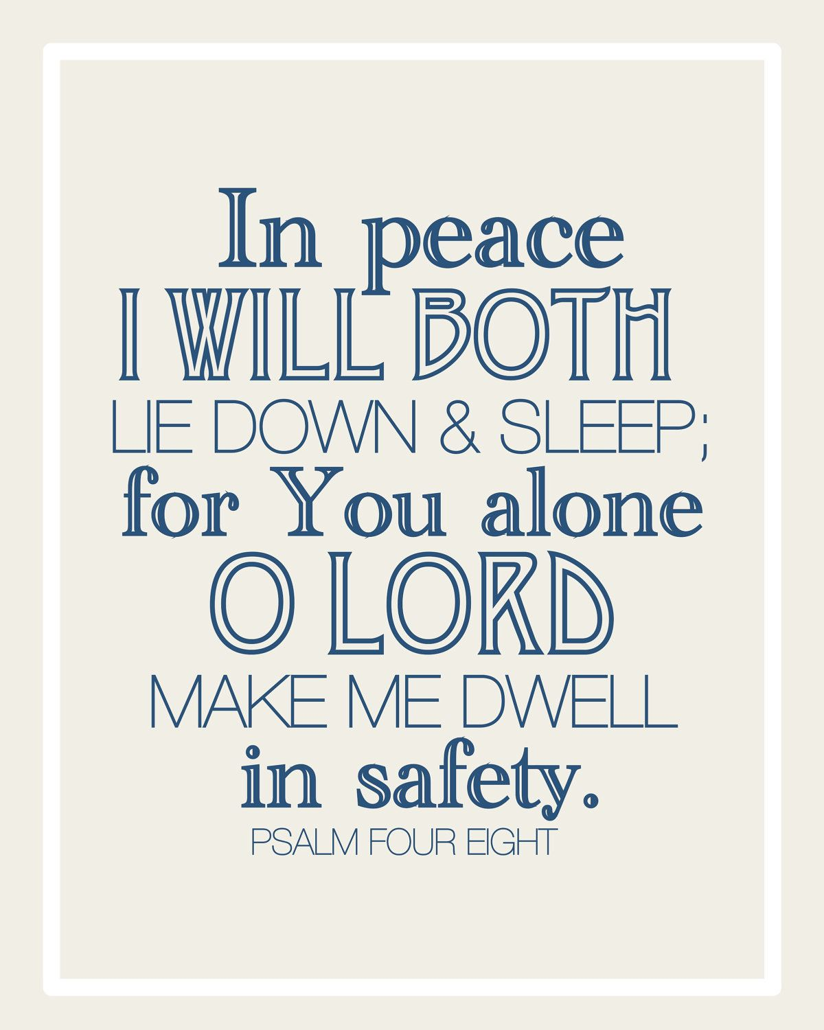 Scripture For Safe Travel: Psalm 4:8 Tells Us That We Can Just Relax Because God Has