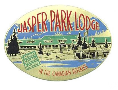 CNR Jasper Park Lodge Luggage Decal