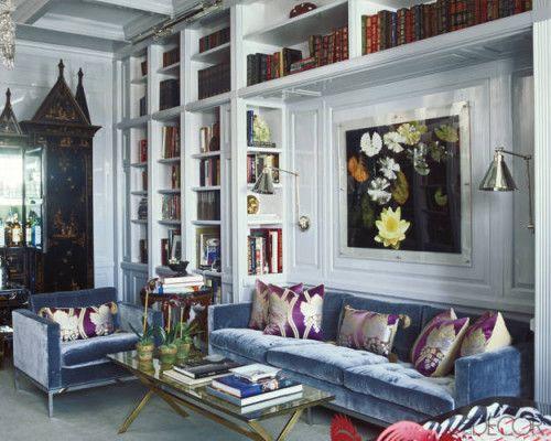 Montage 32 Rooms With Blue Velvet Sofas Decor Interior Design