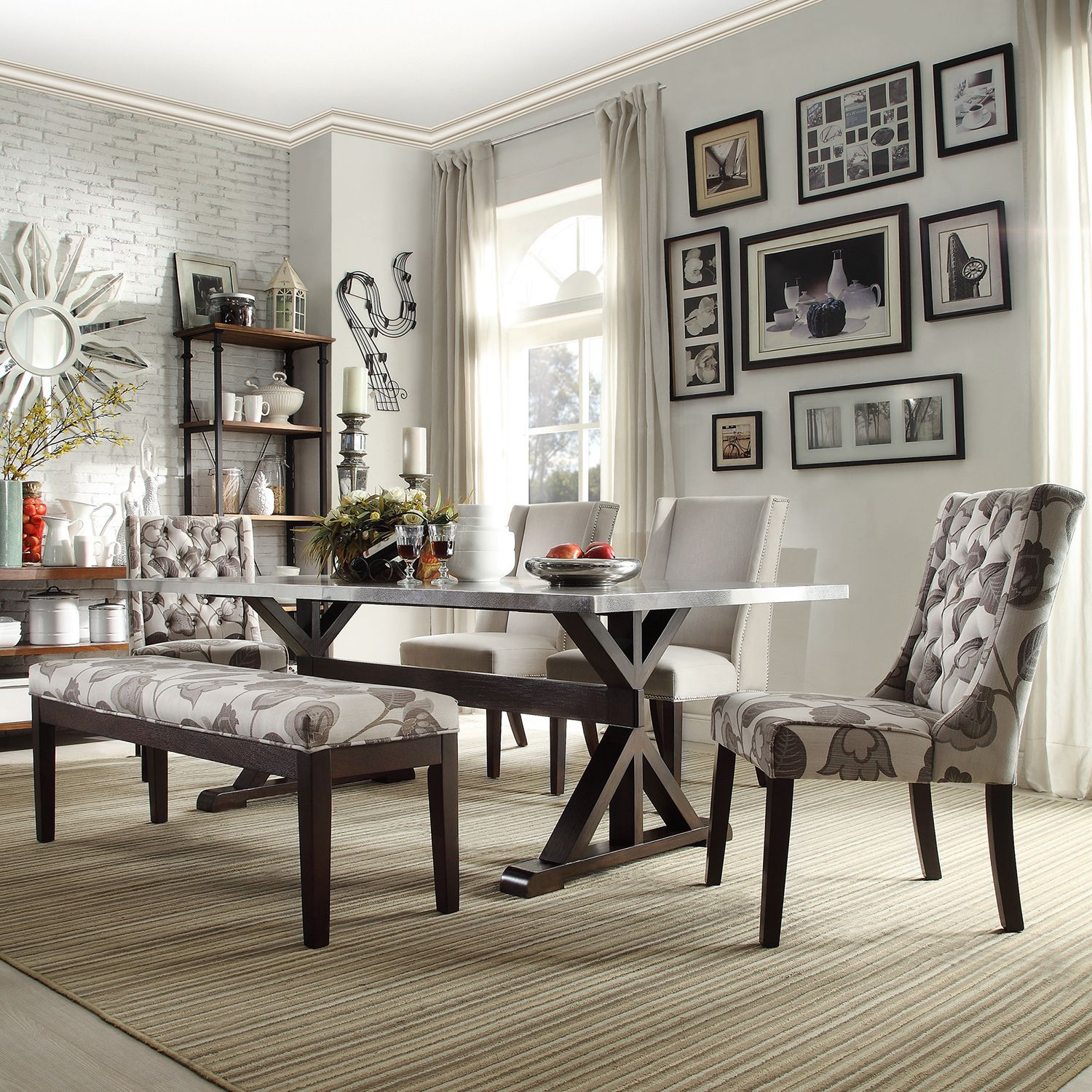 Trumbull Stainless Steel Dining Table by iNSPIRE Q Artisan by iNSPIRE Q