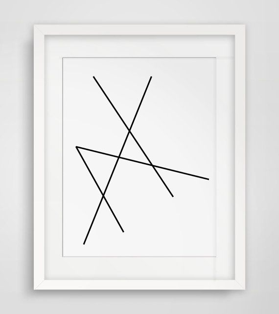 Geometric art minimalist black and white abstract print geometric print line artwork geometric print art black white