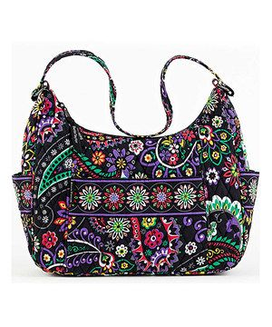 Another great find on #zulily! Black & Purple Carnevale Vanessa Hobo by Bella Taylor #zulilyfinds