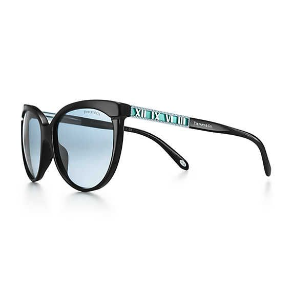 7daaad47352 Tiffany   Co - Atlas butterfly sunglasses in silver-colored metal and black  acetate.