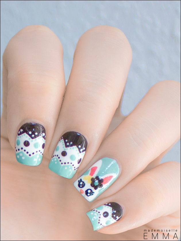 New Easter Nail Art Home Manicure Idea