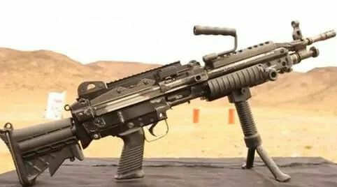 M249 SAW an awesome squad automatic weapon that I enjoyed using in the Marine Corps.
