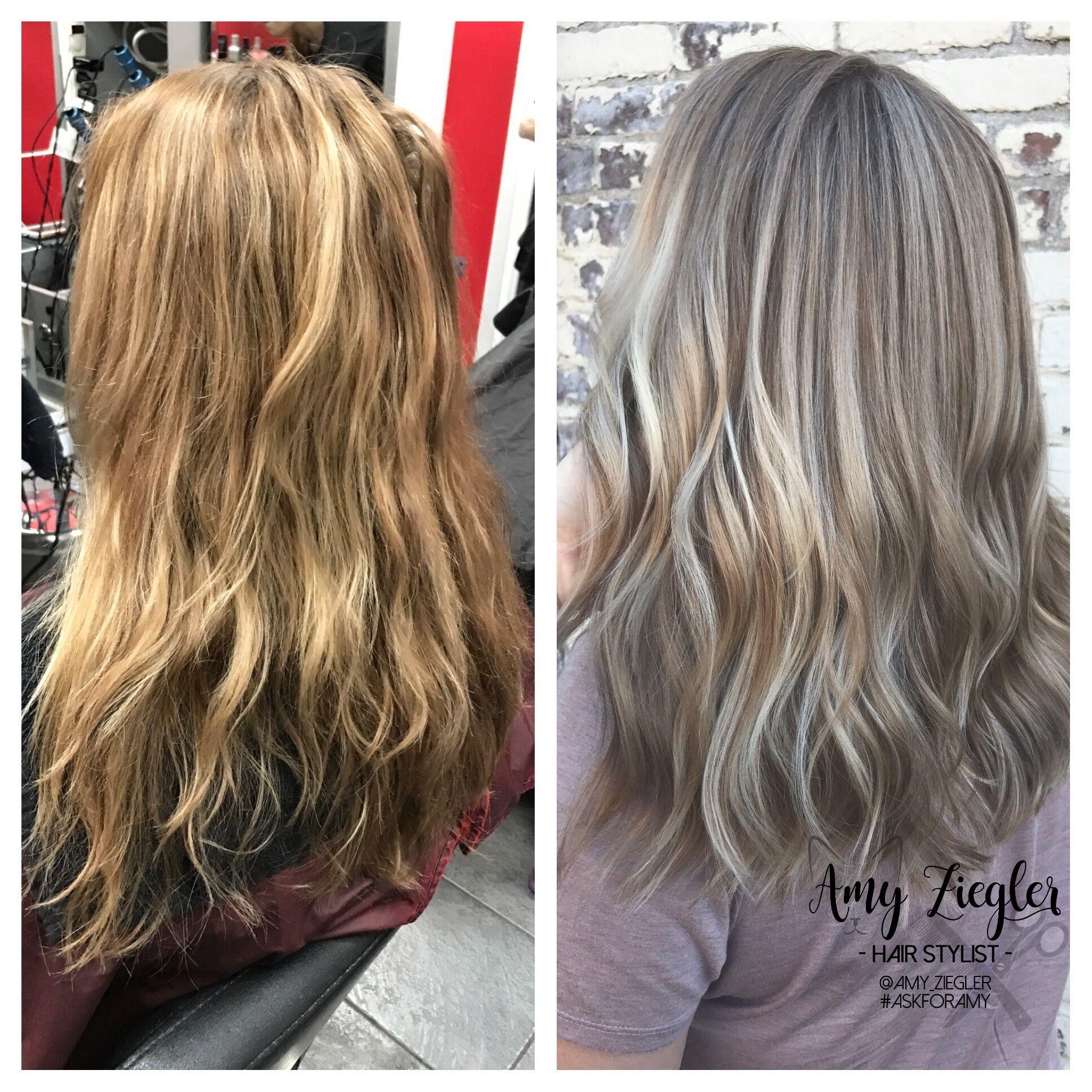 Ash Blonde Babylights Transformation By Amy Ziegler Ash Blonde