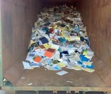 Seven research libraries with the Department of Fisheries and Oceans (DFO) were closed in 2013, and much of the material dumped.  DFO estimated its collection at about 660,000 journals, books, reports and other items.