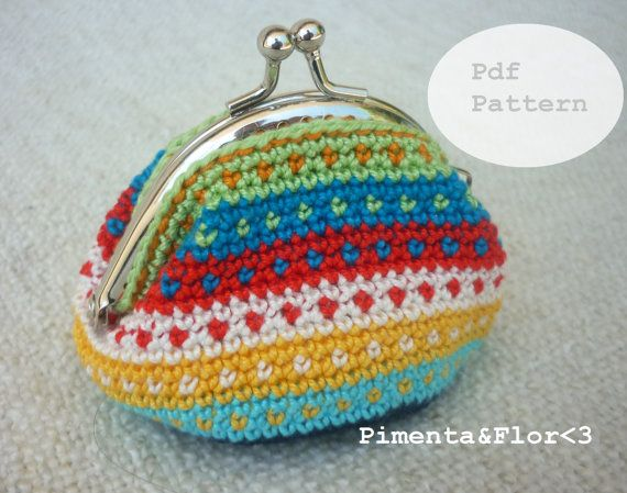 Pattern N11: Stripes and Dots Coin Purse | Pinterest | Tasche häkeln ...