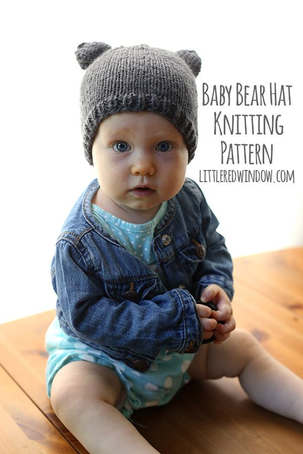 Baby Bear Hat - a knitting pattern by | Knitting patterns free, Baby ...