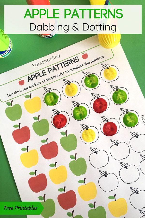 Apple Patterns Do-a-Dot Activity