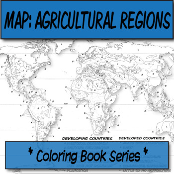 Agricultural Regions Map Coloring Book Series Coloring Books