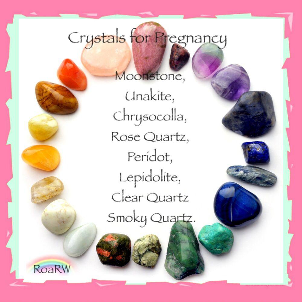 Gemstone ENERGY SET Crystal Healing PREGNANCY