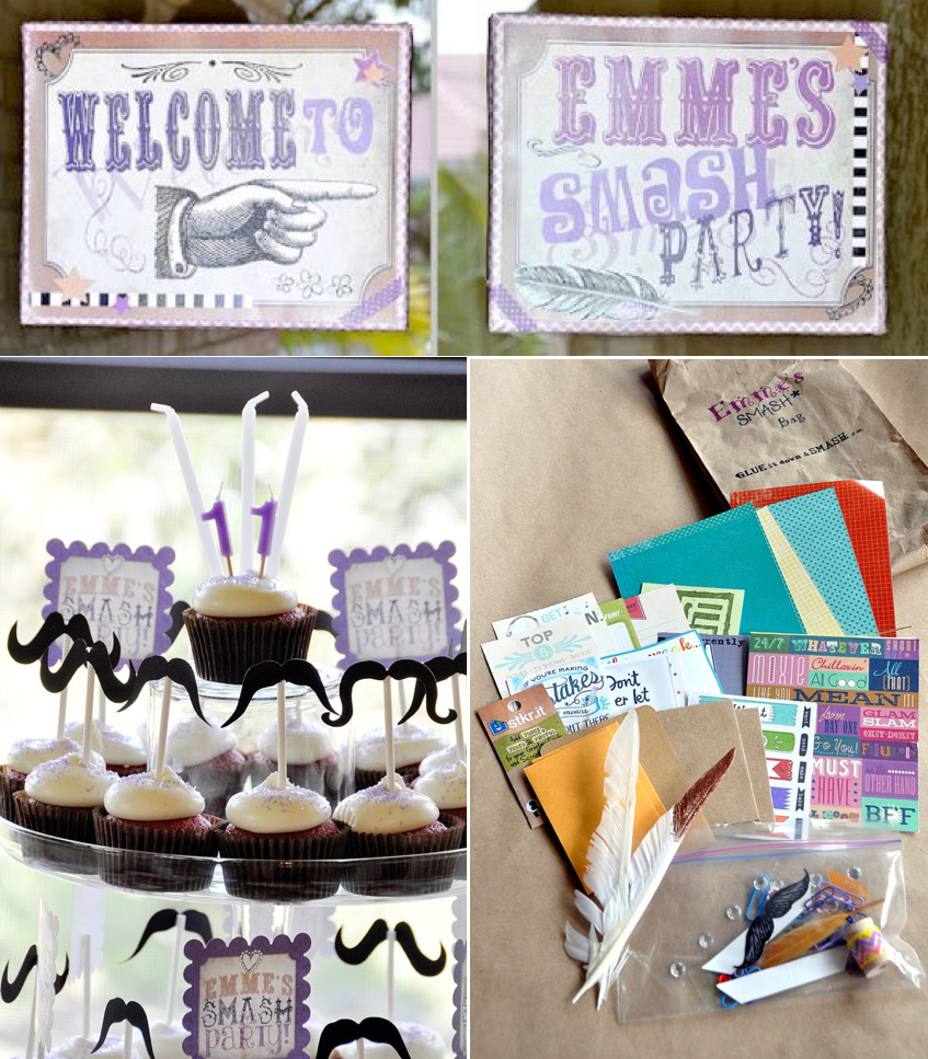 Smash Scrapbooking Teen Tween Girl Birthday Party Planning Ideas