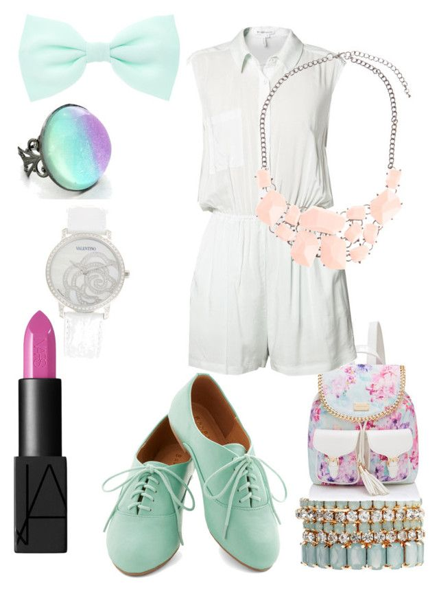"""""""Pastel evening"""" by kaydentisdale ❤ liked on Polyvore featuring NARS Cosmetics, Johnny Loves Rosie, Accessorize, Forever New, Valentino, BCBGeneration and Atmos&Here"""