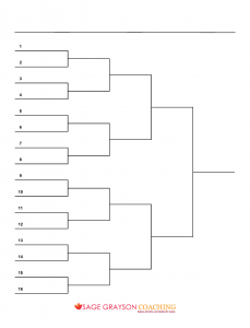 Blank bracket and how to use brackets for decision making. Free ...