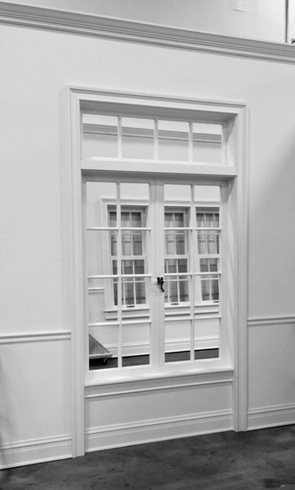 6 Chair Rail Part - 48: TR CR 6 - Chair Rail Wall With Transom, Interchangeable French  Doors/Casement Windows