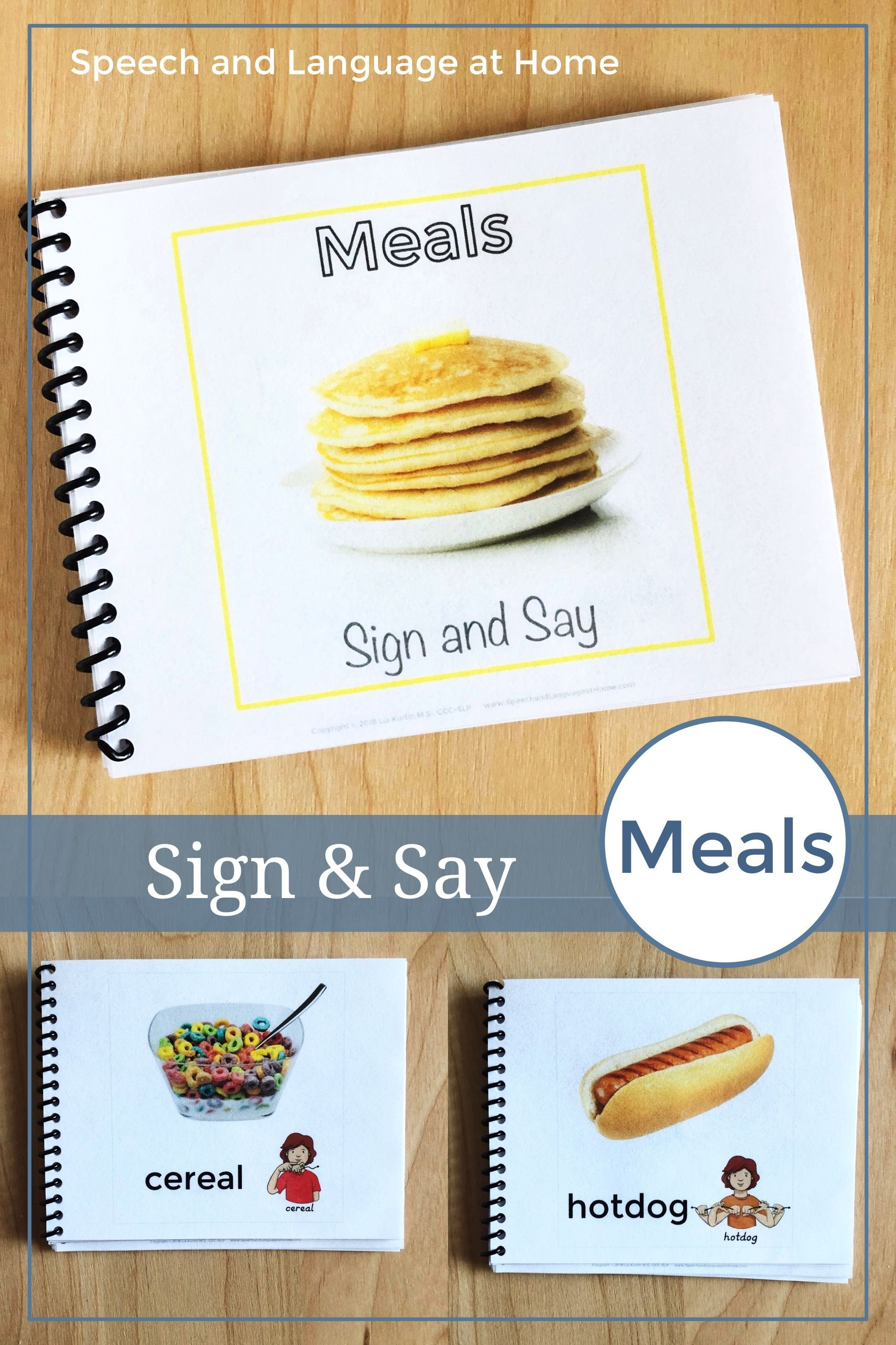 Foods Sign Language Printables Speech Therapy Books Asl