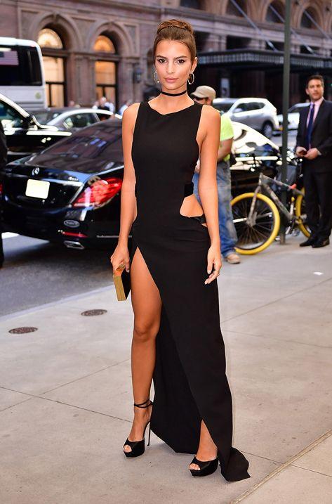 Emily Ratajkowski wearing JOSIE at the Annual Fashion Media Awards during NYFW