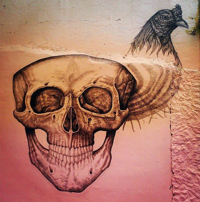 Alexis Diaz (La Pandilla) New Mural In Progress, San Juan, Puerto Rico